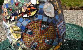 St Caradog garden mosaic